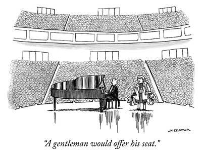 Drawing - A Gentleman by Joe Dator