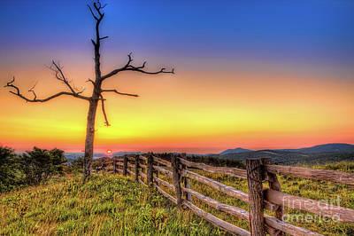 Photograph - A Gorgeous Blue Ridge Sunrise by Dan Carmichael
