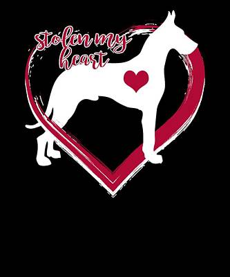 Digital Art - A Great Dane Has Stolen My Heart by Dawn Romine