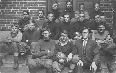 Sports Royalty-Free and Rights-Managed Images - A H S High School Football Team 1911 Vintage Photo by Celestial Images