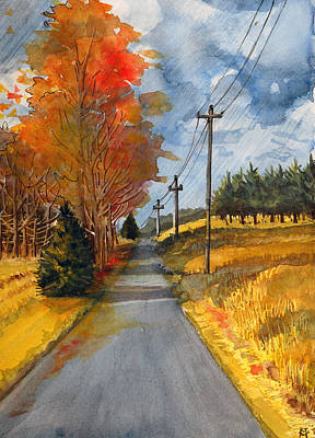 Painting - A Happy Autumn Day by Katherine Miller