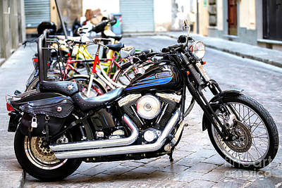 Photograph - A Harley In Florence by John Rizzuto