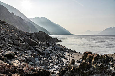 Food And Flowers Still Life Rights Managed Images - A Hazy Turnagain Arm Royalty-Free Image by Tony Hake