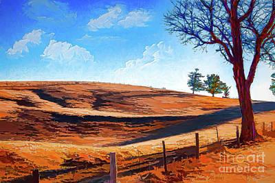 Digital Art - A Hill And Some Clouds In The Blue Ridge Ap by Dan Carmichael