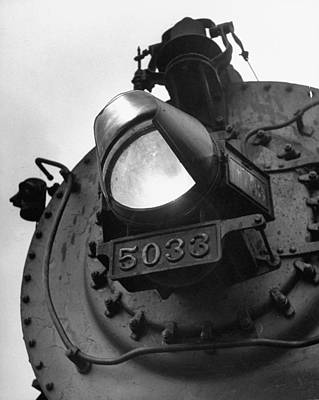 Photograph - A Hooded Locomotive Headlight, The Symbo by Peter Stackpole
