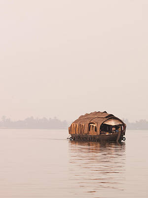 Kerala Photograph - A Houseboat Barge In The Kerala by Cultura Rm Exclusive/philip Lee Harvey