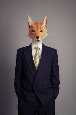Okayama Prefecture Photograph - A Human Figure With A Fox Head Wearing by Trevor Williams