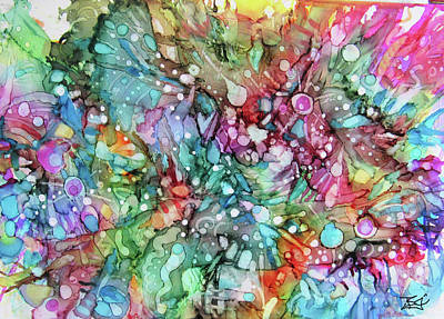 Painting - A-ink Abstract 10 by Jean Batzell Fitzgerald