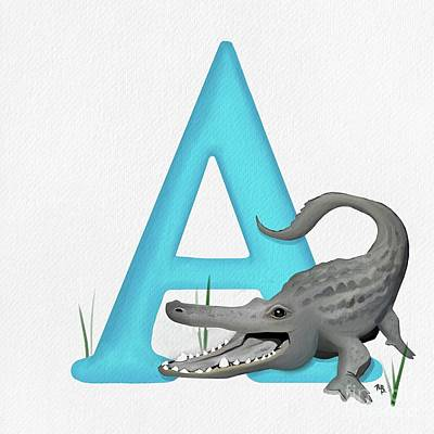 Painting - A Is For Alligator by Tammy Lee Bradley