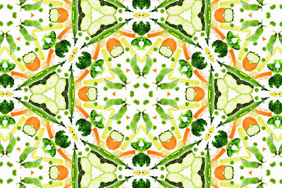 Photograph - A Kaleidoscope Image Of Fresh Vegetables by Andrew Bret Wallis
