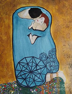 Painting - A Kiss From The Heart by Chris Mackie