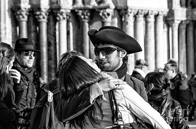 Photograph - A Kiss In Venice by John Rizzuto
