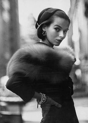 Photograph - A Lady Modeling A Shoulder Lei Of Natura by Gordon Parks