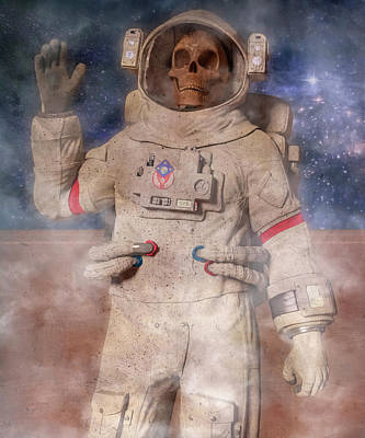 Digital Art - A Lifetime and Beyond Astronaut  by Betsy Knapp
