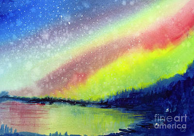 Painting - A Little Aurora Borealis by Allison Ashton