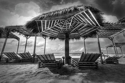 Photograph - A Little Beach Time In Black And White by Debra and Dave Vanderlaan