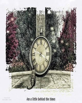 Secondlife Wall Art - Digital Art - A Little Behind The Times by Emma Pidgeon