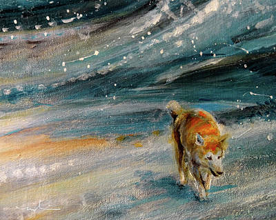 Painting - A Lonely Dog 02 by Miki De Goodaboom