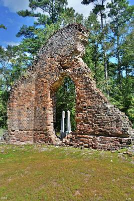 Photograph -  A Look Through Pon Pon Chapel Of Ease Jacksonboro South Carolina Vertical by Lisa Wooten