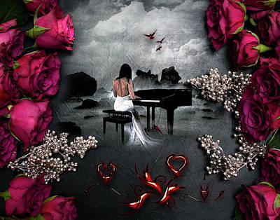Digital Art - A Love Song by Michael Damiani