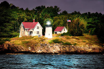 Photograph - A Maine Lighthouse by Kay Brewer