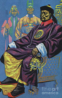Painting - A Manchu Emperor Sitting In State  by Angus McBride