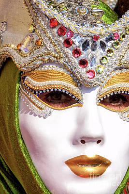 Photograph - A Mask At The Carnevale Di Venezia by John Rizzuto