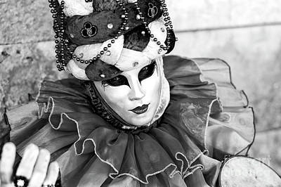 Photograph - A Mask For Carnival In Venice by John Rizzuto