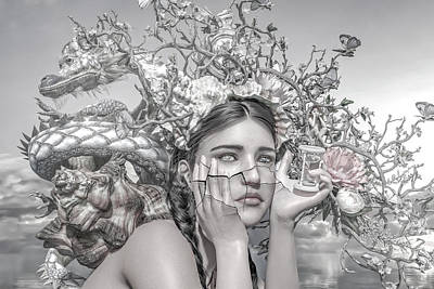 Surrealism Royalty-Free and Rights-Managed Images - A Matter of Time by Betsy Knapp
