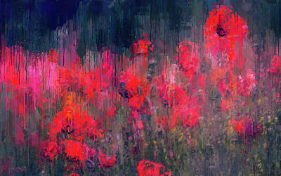 Painting - A Meadow Full Of Red Flowers - 03 by Andrea Mazzocchetti