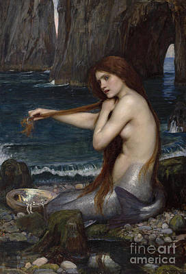 Painting - A Mermaid, 1900 by John William Waterhouse