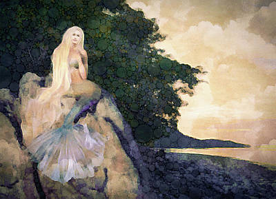 Digital Art - A Mermaid's Tale by Susan Maxwell Schmidt