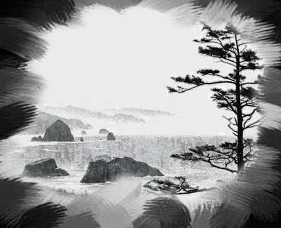 Digital Art - A Minimalist Coastline by Mario Carini