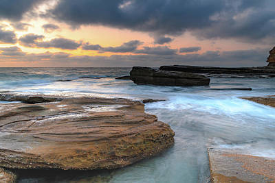 Photograph - A Moody Sunrise Seascape by Merrillie Redden