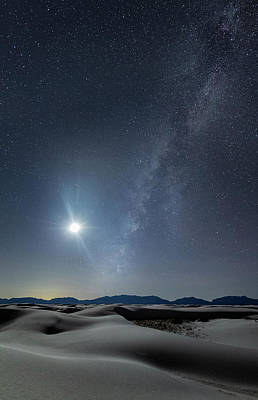 Photograph - A Moonlit Night In White Sands by Roman Kurywczak