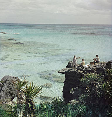 Drinking Photograph - A Nice Spot For Lunch by Slim Aarons