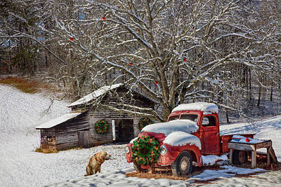 Photograph - A Nostalgic Christmas Eve In Hdr Detail by Debra and Dave Vanderlaan