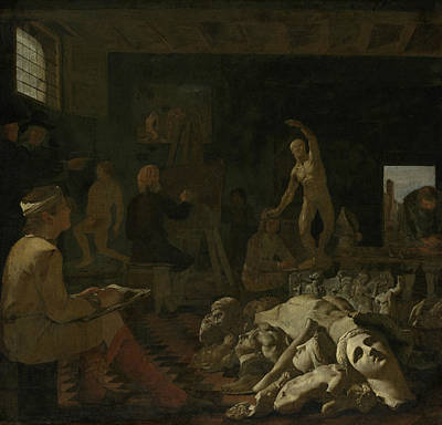 Painting - A Painting Studio by Michiel Sweerts