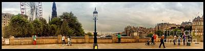 Photograph - A Panoramic View Of The Mound Edinburgh  by Joan-Violet Stretch