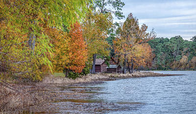 Photograph - A Peaceful Place On An Autumn Day by James Woody