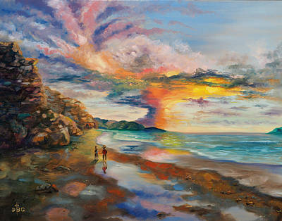 Painting - A Peculiar Sunset by David Bader