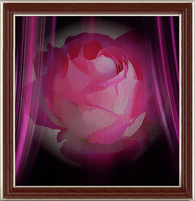 Mixed Media - A Purple Rose On Stage by Clive Littin