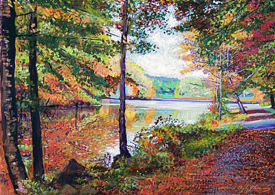 Painting - A Quiet Autumn Stroll by David Lloyd Glover