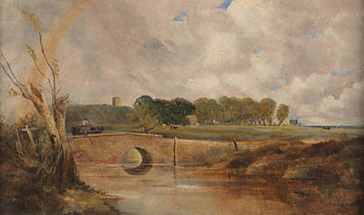 Painting - A Rainbow - View Of The Stour by Lionel Constable