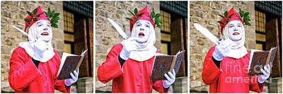 Photograph - A Reading By Dante Alighieri Firenze by John Rizzuto