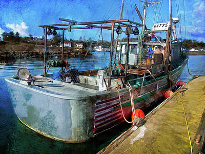 Photograph -  A Real Fishing Boat by Thom Zehrfeld