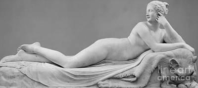 Sculpture - A Reclining Naiad by Antonio Canova