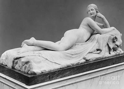 Sculpture - A Reclining Naiad By Canova by Antonio Canova