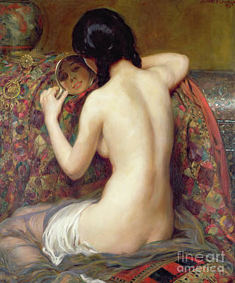 Painting - A Reflection, 1919 by Albert Henry Collings