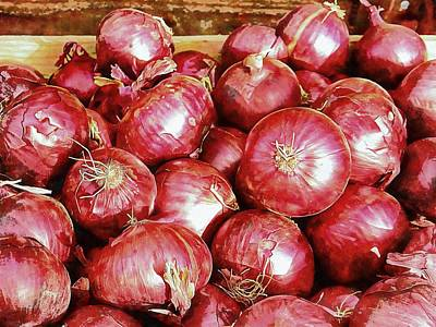 Photograph - A Riot Of Red Onions by Dorothy Berry-Lound